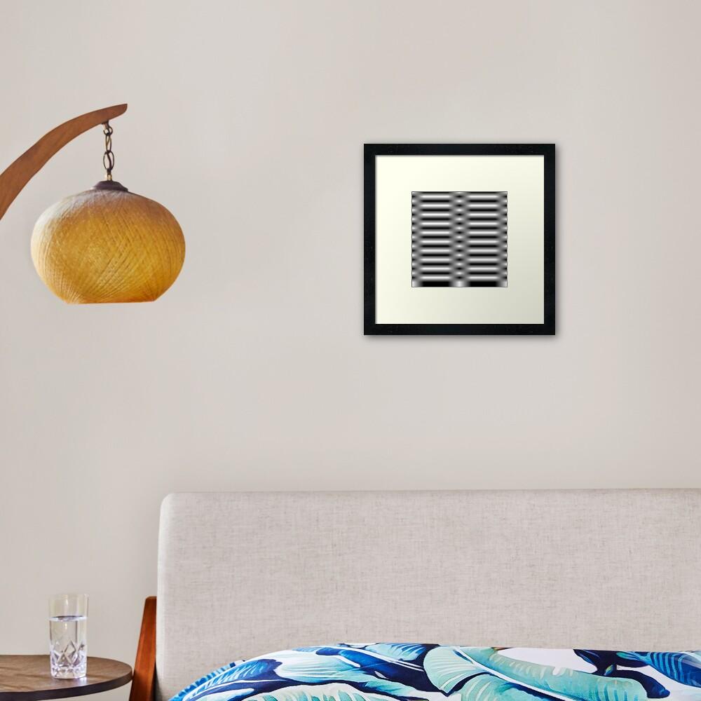 Line Waves Framed Art Print