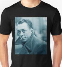 Albert Camus Blue Unisex T-Shirt