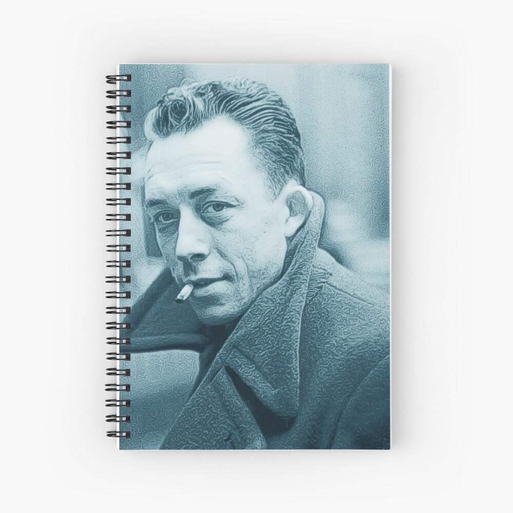 Albert Camus Blue Cuaderno de espiral