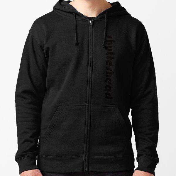 Shutter Head Logo Design 5 Vertical ( Black Font ) Zipped Hoodie