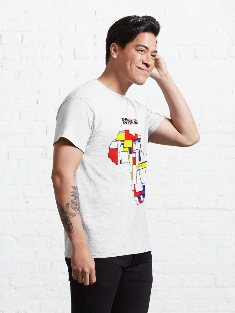 Alternate view of Map of Africa in Mondrian Style Classic T-Shirt