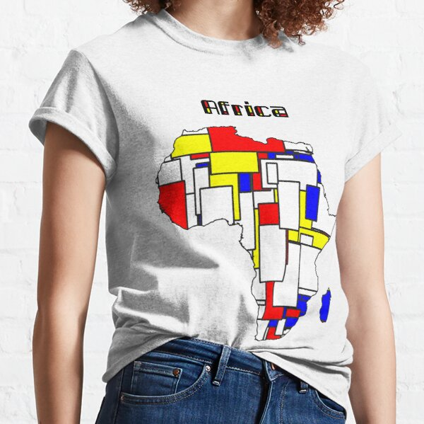Map of Africa in Mondrian Style Classic T-Shirt