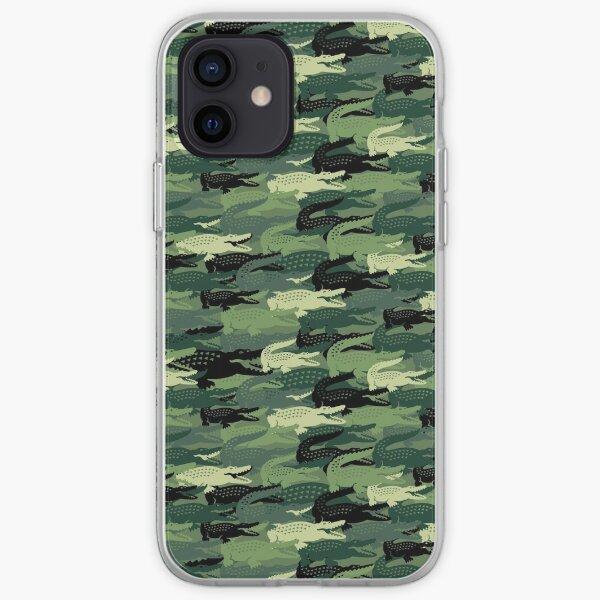 cocodrilo verde loco Funda blanda para iPhone