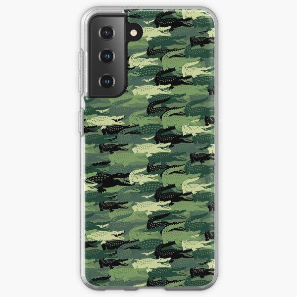 cocodrilo verde loco Funda blanda para Samsung Galaxy