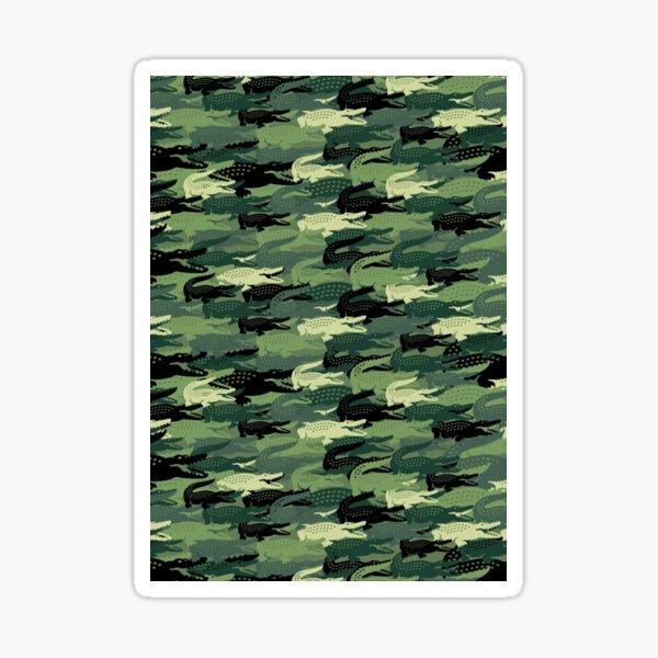 croc vert fou Sticker