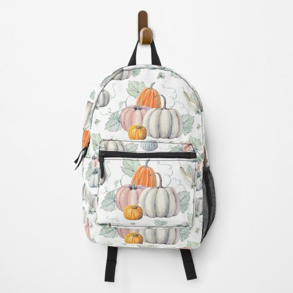 Autumn Fall Watercolor Pumpkins Backpack