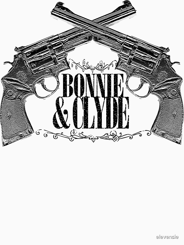 Bonnie & Clyde Crossed Guns | Unisex T-Shirt, a t-shirt of