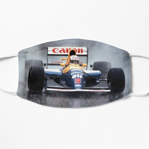 Nigel Mansell en route to second place  Mask