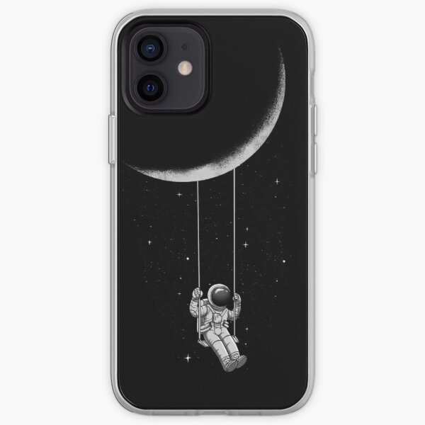 Astronaut swinging on the Moon iPhone Soft Case