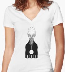 OOD Women's Fitted V-Neck T-Shirt