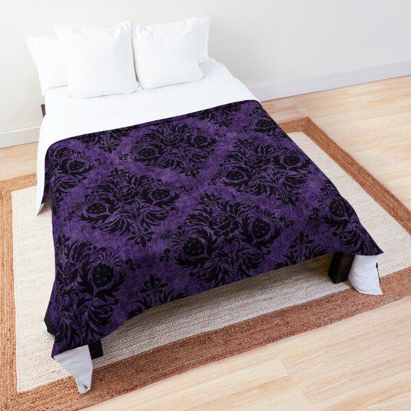 Gothic Damask Purple Comforter