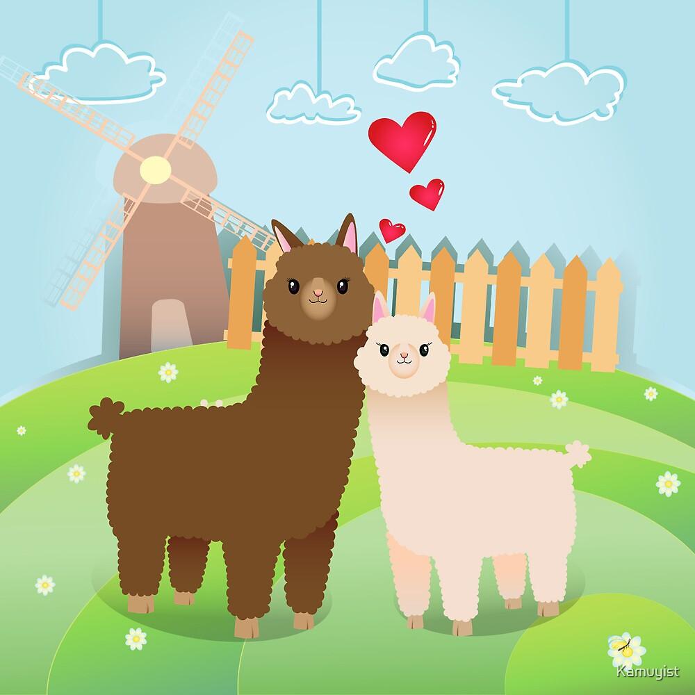 Alpaca's couple by Kamuyist