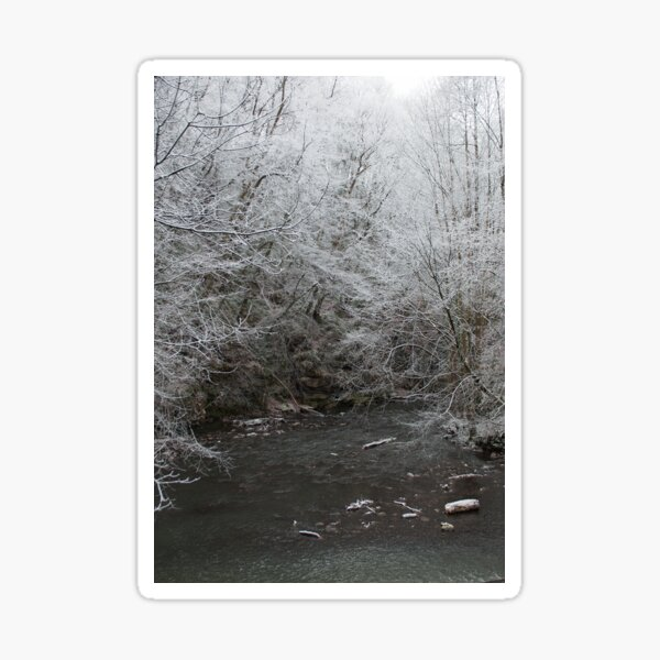 Frosty Morning blank Christmas card Sticker