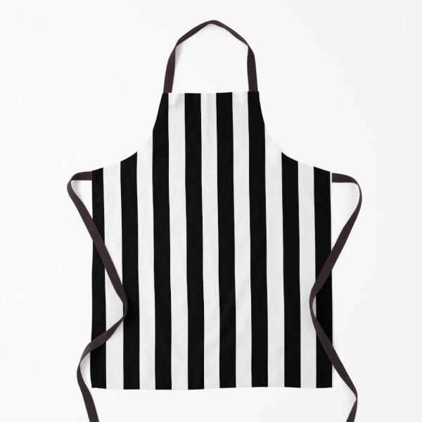 Black & White Striped Dress Apron