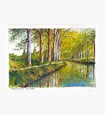 Canal du Midi at Toulouse France Photographic Print