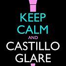 Keep Calm and Castillo Stare (Miami Vice - Black) by olmosperfect