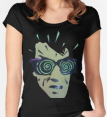 Psycho Without A Stick Women's Fitted Scoop T-Shirt