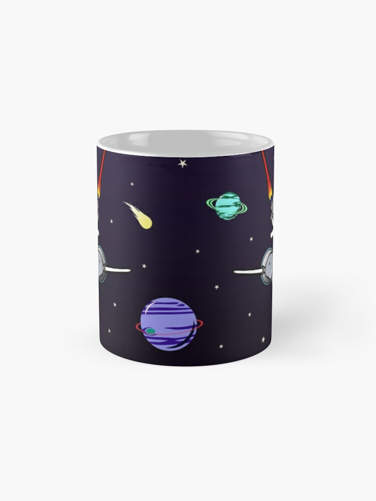 Alternate view of Unicorn Riding Narwhal In Space Mug