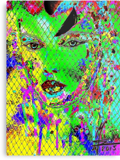 geheimnisvolle Schönheit I - mysterious beauty I - psychodelic-mw art von Marion Waschk