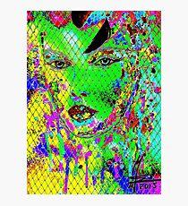 geheimnisvolle Schönheit I - mysterious beauty I - psychodelic-mw art Photographic Print