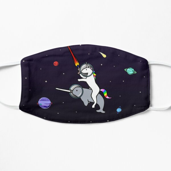 Unicorn Riding Narwhal In Space Mask