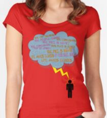 life makes ECHOES. (stick boy.) Women's Fitted Scoop T-Shirt