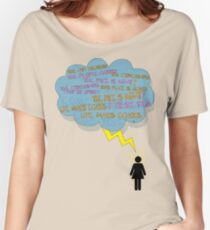 life makes ECHOES. (stick girl.) Women's Relaxed Fit T-Shirt