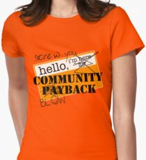 community BLOWBACK. Women's Fitted T-Shirt