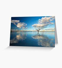 Cloud Makers - Lake Pinaroo, NSW Greeting Card