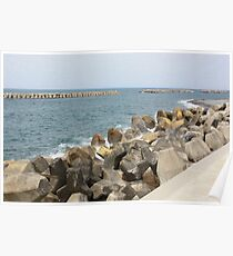 Japanese sea in summer Poster
