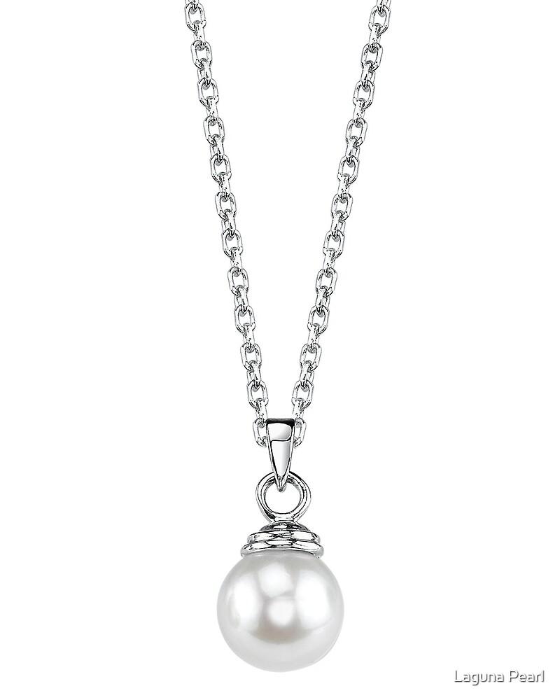 Japanese Akoya Pearl Hope Pendant by Laguna Pearl