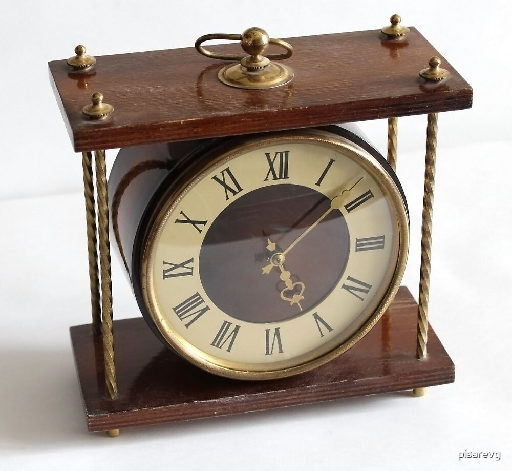 Wooden clock by pisarevg