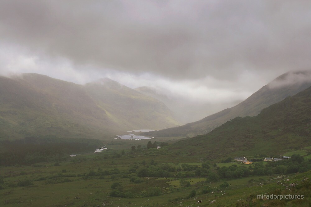 Heavy cloud at molls gap in Killarney national park  by miradorpictures