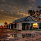 Sunset over the stables - Gular Station NSW by pedroski