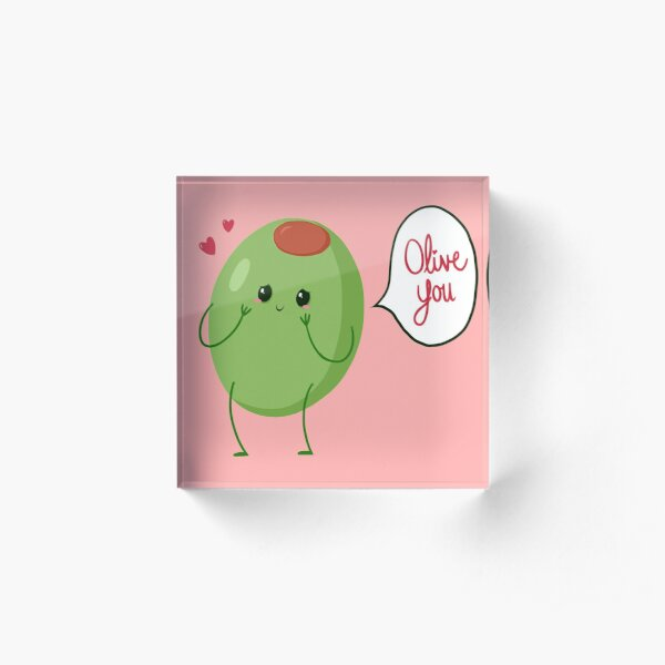 Olive you! #digistickie Acrylic Block
