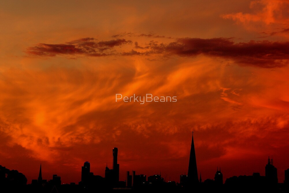 Melbourne Sunset by PerkyBeans