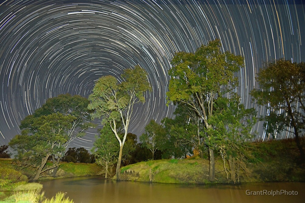 """""""Star trail over Condamine"""" by GrantRolphPhoto"""