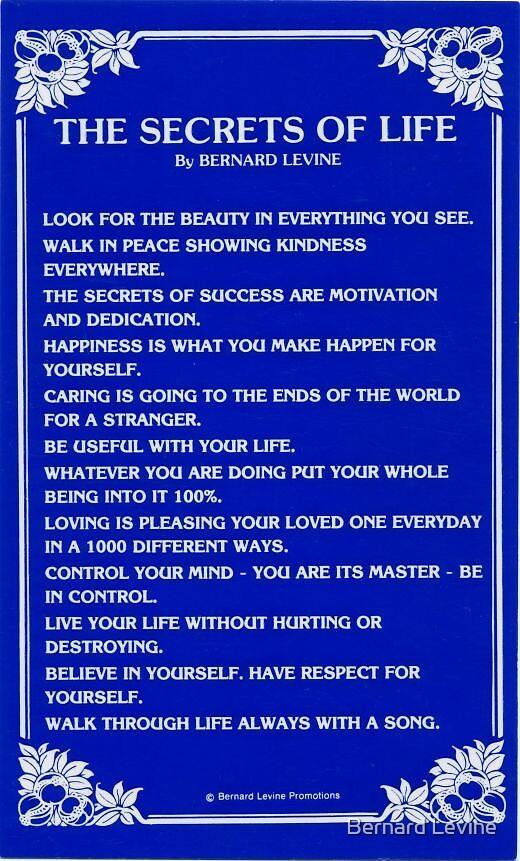 SECRETS OF LIFE by Bernard Levine