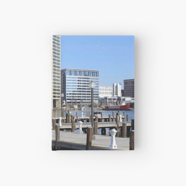 Baltimore's Inner Harbor and World Trade Center Hardcover Journal