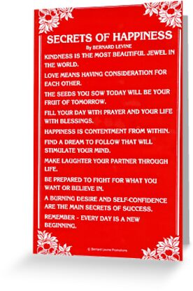 SECRETS OF HAPPINESS by Bernard Levine