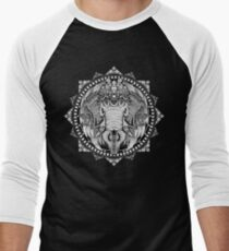 Elephant Medallion Men's Baseball ¾ T-Shirt