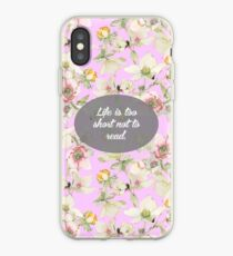 Vinilo o funda para iPhone Life is too short not to read
