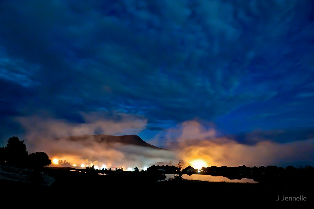 Valley Mists at 4 AM by J Jennelle