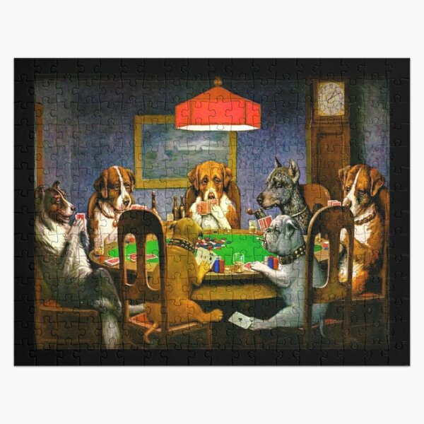 DOGS PLAYING POKER. A Friend in Need. Cassius Marcellus Coolidge. 1903. Jigsaw Puzzle