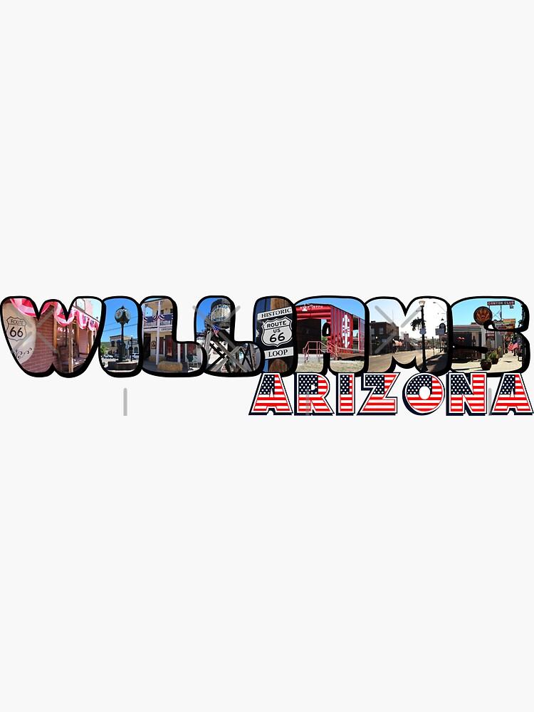Williams Arizona Big Letter by ButterflysAttic