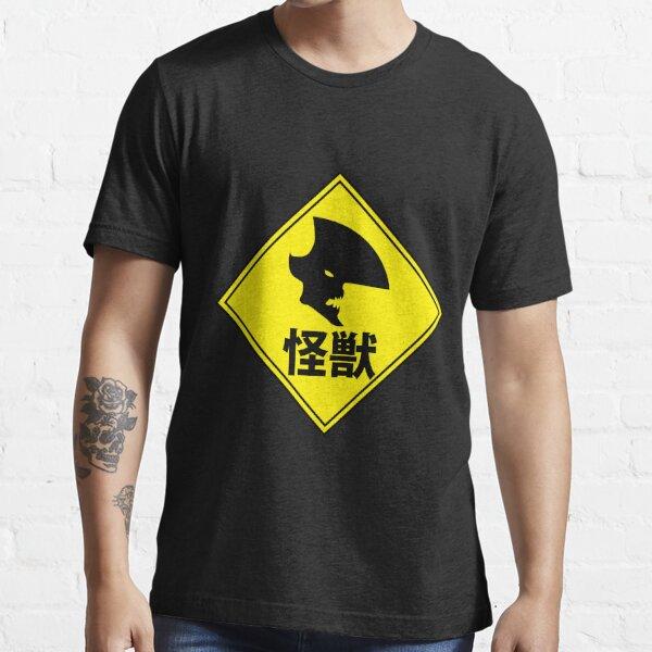 """Kaiju """"Strange Creature"""" Warning Essential T-Shirt"""