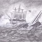Battling the Waves by sharmabob