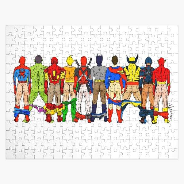 Superhero Butts Jigsaw Puzzle