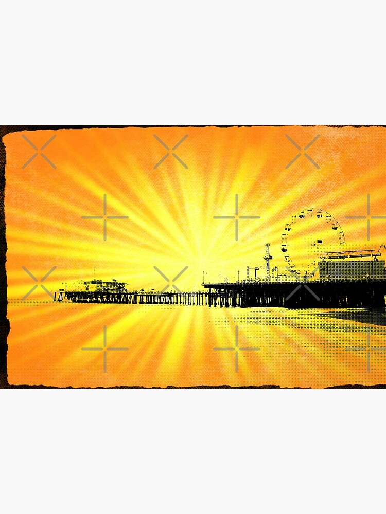 Santa Monica Pier Yellow Sunburst by stine1
