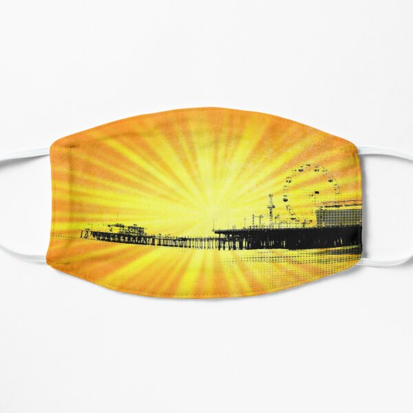 Santa Monica Pier Yellow Sunburst Mask